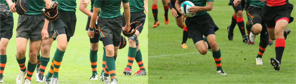 サッカーをしている写真1